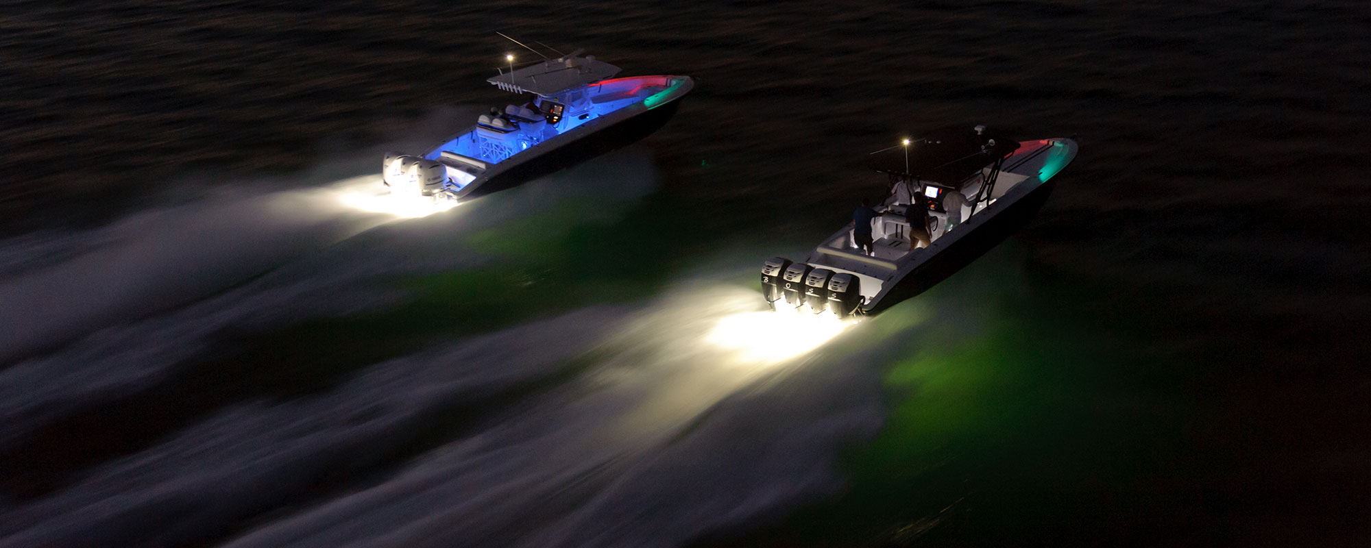 speed boats using led lights